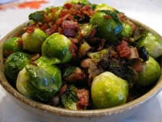 Bacon-Braised Brussels Sprouts | The Paleo Mom  We aren't even North American and i want to do Thanksgiving! So many amazing recipes to try!