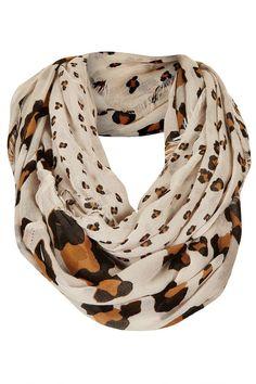 Infinity animal print scarf