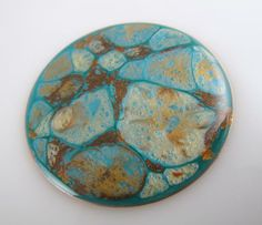 Turquoise, sand, chocolate and apricot made for a nice cabochon