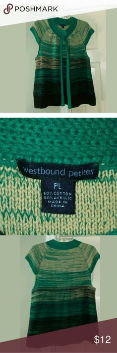 Westbound petites sweater cardigan Sz PL WESTBOUND PETITES MultiColor Green & Blue Sweater Cardigan 1 Button Close Sz. PL Westbound Petites Sweaters Cardigans