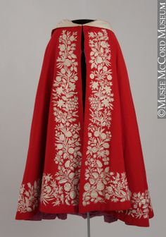 Beautiful cloak with a hood in the McCord Museum collection.