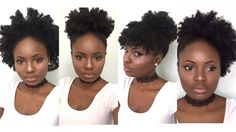4 Simple Back to School Hairstyles for Medium Natural Hair (4C) | Feyise...