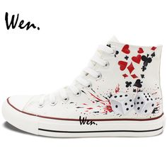 13 Best Hand Painted Design Poker Custom Shoes images