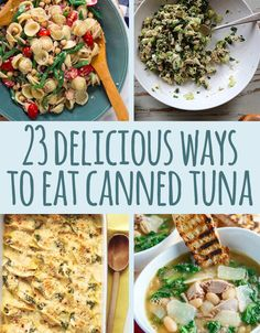 Canned tuna for dinner is often an act of desperation. I think it's time to change that. Canned tuna for dinner is often an act of desperation. I think it's time to change that. Fish Dishes, Seafood Dishes, Seafood Recipes, Dinner Recipes, Tuna Dishes, Think Food, I Love Food, Good Food, Yummy Food