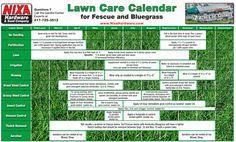 Bermuda zoysia lawn care chart lawncare pinterest for Garden maintenance schedule