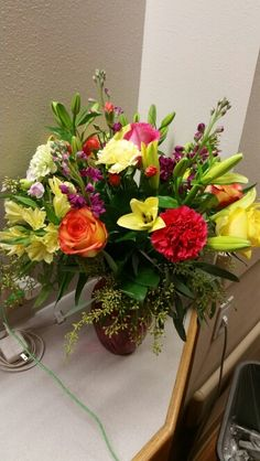 January 20, 2016-  Pretty flowers.   They brighten your day no matter how badly you feel.