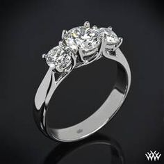 """Trellis"" 3 Stone Engagement Ring #whiteflash #verragio"
