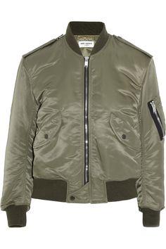 Saint Laurent Shell bomber jacket NET-A-PORTER.COM