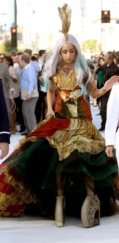 LADY GAGA // ALEXANDER MCQUEEN // 2010.... It's OK she worked hard to look this stupid