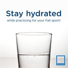 Stay hydrated while practicing for your #Fall sports!