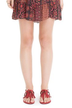 Sandália rasteira franjas - Calçados | Dress to