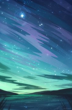 Green Art Print by zandraart - X-Small Scenery Wallpaper, Galaxy Wallpaper, Wallpaper Backgrounds, Fantasy Landscape, Landscape Art, Amoled Wallpapers, Environment Concept Art, Anime Scenery, Pretty Wallpapers