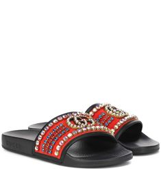 47ce7152cb71 Gucci - Crystal embellished slides