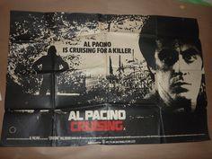 UK Quad AL Pacino's Cruising.  Director: William Friedkin (1980) Stars: Al Pacino, Paul Sorvino, Karen Allen