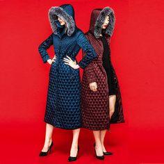 2016 Зимняя Куртка Женщин куртки и пальто женщин зимнее пальто Тонкий меховой воротник женская верхняя одежда x-длинное пальто плед сгущает