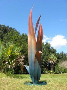 Iron Sculptures for Outdoors Metal Yard Art, Scrap Metal Art, Outdoor Sculpture, Garden Sculpture Art, Metal Art Sculpture, Abstract Sculpture, Yard Sculptures, Metal Garden Sculptures, Palm Frond Art
