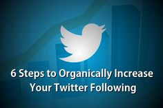 How to organically increase your followers with Twitter. #socialmedia #twitter