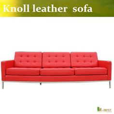 469.00$  Buy now - http://ali2ds.worldwells.pw/go.php?t=32691621375 - U-BEST FLORENCE KNOLL STYLE SOFA IN LEATHER MULTIPLE COLORS/MATERIALS ,Famous knoll style seat sofa 469.00$