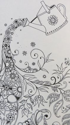 Colour it, sew it, trace it, etc. Secret Garden by Johanna Basford