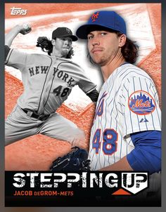 Jacob DeGrom New York Mets Stepping Up Insert Card 2015 Topps BUNT