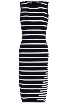 Shop on-sale Striped knitted dress. Browse other discount designer Knee Length Dress & more luxury fashion pieces at THE OUTNET Fashion Brands, Luxury Fashion, Discount Designer, Black Stripes, Knit Dress, Dresses For Sale, Bodycon Dress, Winter, Shopping