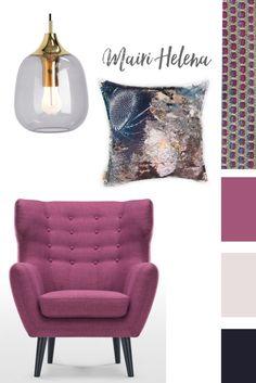 moodboard idea for colourful living room decoration