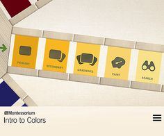 Toddlers can learn about colors digitally with the educational #app Intro to Colors by Montessorium.