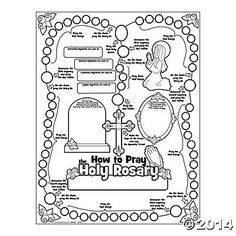 How to pray the Rosary picture illustration guide www