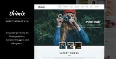 Thimix Creative Photography MUSE Template . Thimix Creative Photography Adobe Muse Template is a unique and minimal style Multipage Template based on Adobe Muse. Mobile responsive web template, designed perfectly for Photographers, Creatives and Designers. It is also suitable for corporate business, photo or design studio agency, fashion