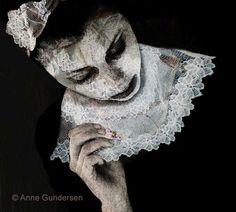 """Foto-collage """"Blondekragen"""" Photo Art, Skull, Collage, Collages, Skulls"""