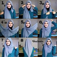 What is hijab? Hijab is the head scarf which is usually worn by the Muslim women. Square Hijab Tutorial, Simple Hijab Tutorial, Hijab Style Tutorial, Scarf Tutorial, Turkish Hijab Tutorial, Turban Hijab, Stylish Hijab, Hijab Chic, Girl Hijab