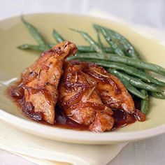 Caramelized Onion Chicken.. one of my go-to recipes. I tweak it a lot by using balsamic vinegar, merlot, and whatever jam is there...