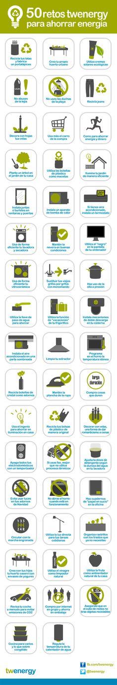 50 consejos para ahorrar energía #infografia #infographic #medioambiente