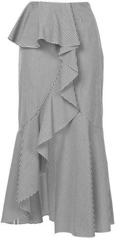 d1692296a8a J Striped Asymmetric Ruffle Midi Skirt - Farfetch. Classic SkirtsUnique  FashionMidi ...