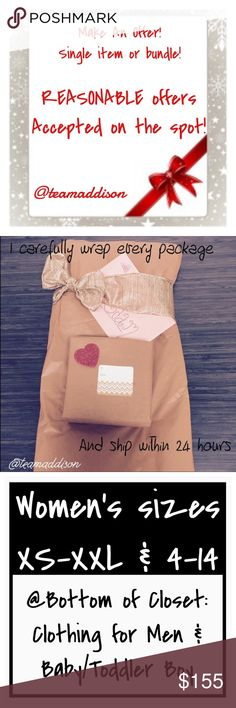 """Reasonable offers accepted on the spot! 😊❤ 📦Same day shipping (excluding Sun/holidays or orders placed after P.O. Closed) ❤️Save on shipping: Add all of your """"likes"""" to a bundle and submit an offer  Interested in just one item? Great, make me an offer. Love my closet so much that you want multiple items? Add all of your desired items to a bundle and make me an offer! 👏🏽 Please keep in mind that Poshmark takes 20% of all proceeds. All items come from a smoke/pet free home. Calvin Klein…"""