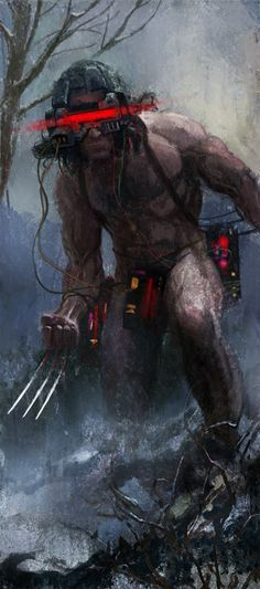 The Weapon X storyline and art was simply awesome! BWS was a genius! This is art inspired by his work.