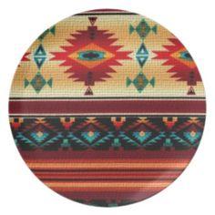 Southwestern pattern decorative plate