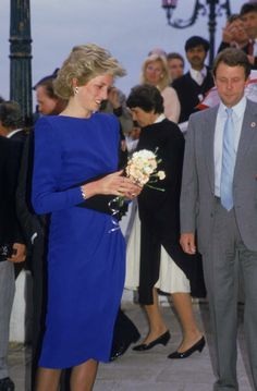 May 4, 1985: Princess Diana arrives in Venice and then head for lunch on the island of Torcello.