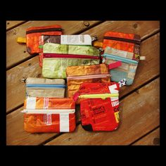 Upcycle. Coffee Zipper Pouches!