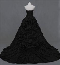 Alternative Black Wedding Dress for Gothic by WeddingDressFantasy