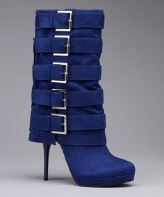 Blue Masado Buckle Stiletto Boot by Michael Antonio on zulily.com today!