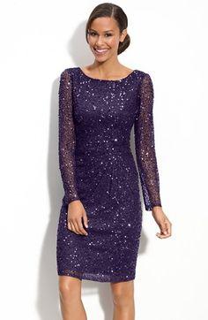Patra Beaded Mesh Sheath Dress | Nordstrom