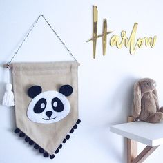 Perfectly paired! How good does our little panda banner look alongside this amazing floating type by very talented @findinglouie Another beautiful handmade item just added to my wish list!