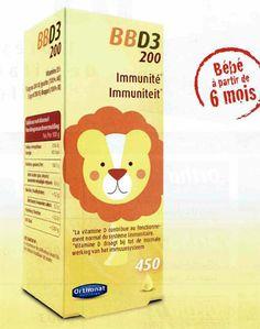 #BBD3 la vitamine D3 par #ORTHONAT pour les biobébés à partir de 6 mois sur base d'huile de colza bio.