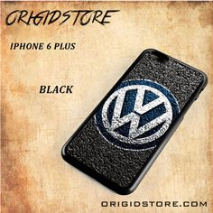 Volkswagen Car Logo VW Black White Snap On Or 3D For Iphone 6 Plus