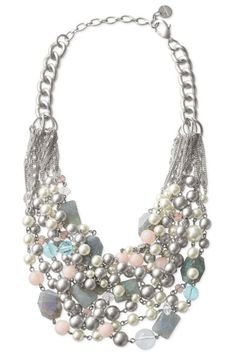 Multi-colored necklaces add elegance to a simple outfit and this one would be perfectly lovely with a white sweater and bootcut jeans.  chunky necklace 380 x 575 Hot Jewelry Trends for Fall 2013