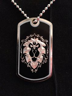 World of Warcraft Alliance Dog Tag Necklace by ambersunset on Etsy, $10.00