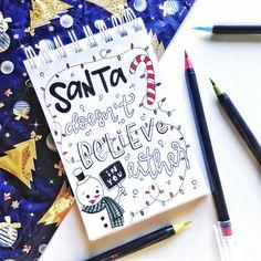 Evelyn Sayuri -  (@bujo_evelyn) . . . #Lettering #BrushLettering #Christmas #HandLettering #Quote