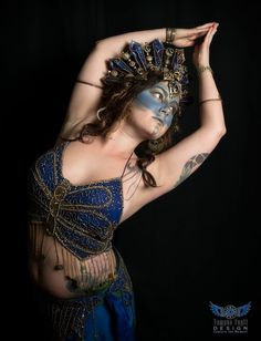 Queen of the Damned crown, worn by Amethyst Clear Hayes, photo by Tempus Fugit Design