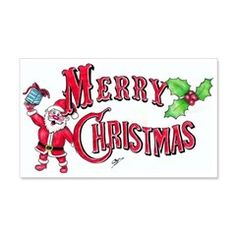 Merry Christmas Wall Sticker > Merry Christmas > J.P.Gray Artwork Emporium